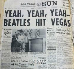 HTF 1964 Beatles Las Vegas Concert Ticket. Fan Stub No Shrink Club Wrapper Card