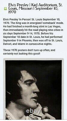 HTF Rare Elvis St Louis MO September 10 1970 Concert Ticket Stub Kiel auditorium