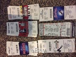 Huge Unused Ticket Stub Lot Broadway Shows Concerts Plays Musicals Sports Etc