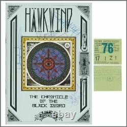 Hawkwind 1985 Autographed Concert Programme & Concert Ticket Stub (UK)