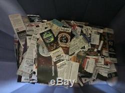 Huge Lot 100's of PREMIUM Vintage MLB/NFL/NHL/NBA/NCAA Concert Ticket Stubs
