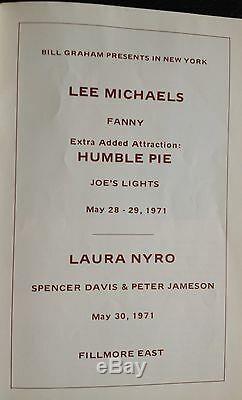 Humble Pie Steve Marriott Guitar Pick Fillmore Concert +Ticket stub & Program