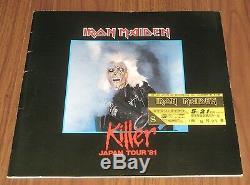 Iron Maiden JAPAN 1981 tour book + TICKET STUB rare CONCERT PROGRAMME debut gig