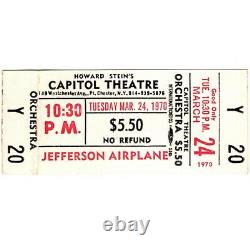 JEFFERSON AIRPLANE Concert Ticket Stub PORT CHESTER NY 3/24/70 CAPITOL THEATRE