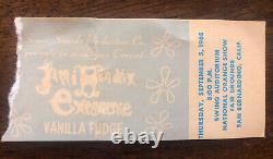 JIMI HENDRIX EXPERIENCE/ VANILLA FUDGE 1968 CONCERT TICKET STUB Rare Original CA