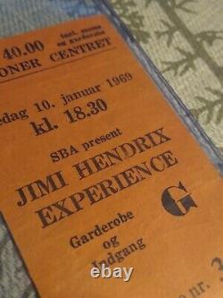JIMI HENDRIX EXPERIENCE original 1969 concert ticket stub Jethro Tull Denmark