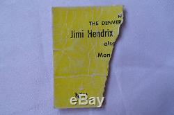 JIMI HENDRIX Original 1968 CONCERT Ticket STUB Regis College, Denver CO