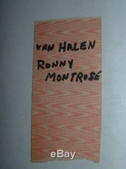 JOURNEY / VAN HALEN / MONTROSE 1978 Concert Ticket Stub DAYTON HARA ARENA Rare