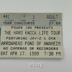 Jay Z DMX Hard Knock Life Tour Method Redman Concert Ticket Stub Vintage 1999