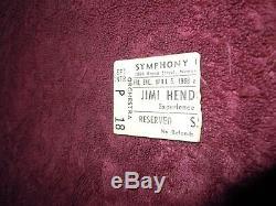 Jimi Hendrix Rare Ticket Stub From Historic 1968 Newark Symphony Hall Concert