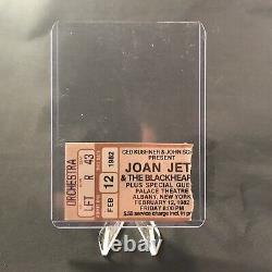 Joan Jett And The Blackhearts Palace Theatre NY Concert Ticket Stub Vintage 1982