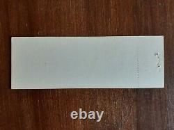 Johnny Cash Super Rally 1976 Unused Concert Ticket (one Of A Kind)