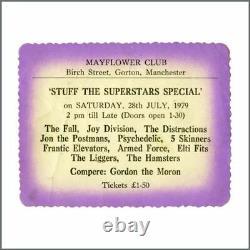 Joy Division 1979 The Mayflower Club Concert Ticket Stub And Handbill (UK)