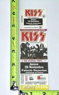 KISS Band Full Ticket Stub Reunion Tour 1996 CANCELLED Concert Madrid Spain