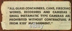 KISS (Band)-Peter Criss-1979 RARE Concert Ticket Stub (Indianapolis, Indiana)