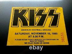 KISS Concert Ticket Stub November 15, 1980 WAVERLY PARK MELBOURNE AUSTRALIA
