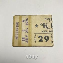 Kiss Kiel Auditorium St Louis MO Concert Ticket Stub Vintage July 29 1976