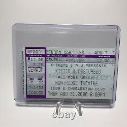 Kittie Disturbed Huntridge Theatre Concert Ticket Stub Las Vegas August 31 2000
