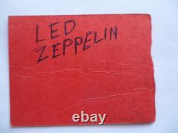 LED ZEPPELIN 1970 Original CONCERT TICKET STUB Madison Square Garden, NYC