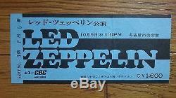 LED ZEPPELIN 1972 JAPAN TOUR Concert Ticket Stub @ NAGOYA with Original Envelope
