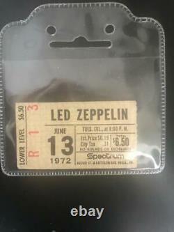 LED ZEPPELIN-1972 RARE HARD TO FIND CONCERT TICKET STUB(Philadelphia Spectrum)