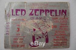 LED ZEPPELIN 1977 Original CONCERT ticket STUB RIOT SHOW in Tampa, FL