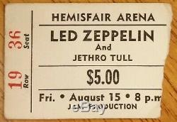 LED ZEPPELIN-John Bonham-1969 Concert Ticket Stub (San Antonio-Hemisfair Arena)