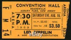 LED ZEPPELIN-John Bonham-1969 RARE Concert Ticket Stub (Asbury Park, New Jersey)