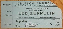 LED ZEPPELIN-John Bonham-1970 Concert Ticket Stub (Berlin-Deutschlandhalle)