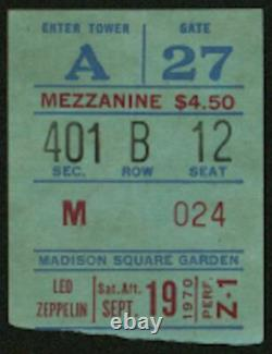 LED ZEPPELIN-John Bonham-1970 RARE Concert Ticket Stub (New York-MSG)