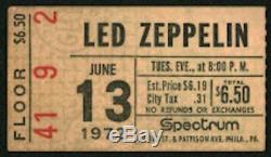 LED ZEPPELIN-John Bonham-1972 RARE Concert Ticket Stub (Philadelphia Spectrum)