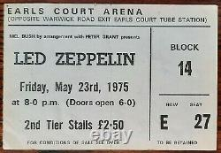 LED ZEPPELIN-John Bonham-1975 Concert Ticket Stub (London-Earls Court Arena)