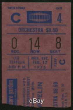 LED ZEPPELIN-John Bonham-1975 RARE Original Concert Ticket Stub (New York-MSG)