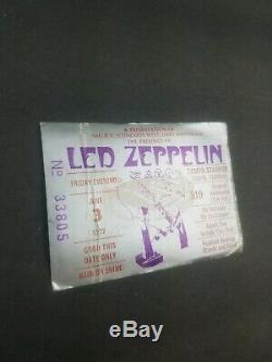 LED ZEPPELIN John Bonham 1977 RARE Concert Ticket Stub Tampa Stadium (A01)
