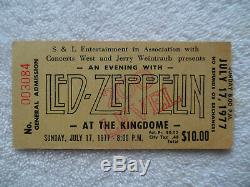 LED ZEPPELIN Original 1977 CONCERT TICKET STUB Seattle EX