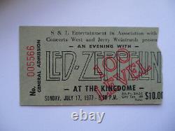 LED ZEPPELIN Original 1977 CONCERT TICKET STUB Seattle EX+