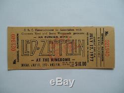 LED ZEPPELIN Original 1977 UNUSED CONCERT TICKET Seattle EX