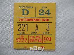 LED ZEPPELIN Original CONCERT Ticket STUB