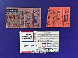 Led Zeppelin Vintage Concert Ticket Stubs Lot Of 3-(2) Msg & (1) Capital Centre