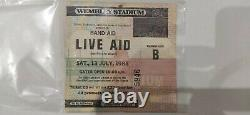 LIVE AID 1985 Concert Original Ticket Stub Wembley Stadium Queen