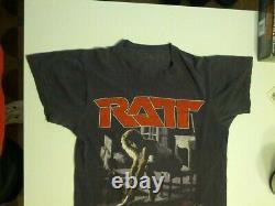LOOK! Vintage RATT Concert T-shirt, Bandana, and Ticket Stub! Rock On 80's