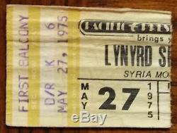 LYNYRD SKYNYRD-Ed King-1975 Concert Ticket Stub (Pittsburgh-Syria Mosque)