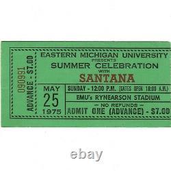 LYNYRD SKYNYRD & SANTANA Concert Ticket Stub YPSILANTI MI 5/25/75 NUTHIN' FANCY