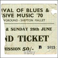 Led Zeppelin 1970 Bath Festival Concert Ticket Stub (UK)