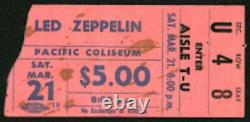 Led Zeppelin-1970 RARE Concert Ticket Stub & Newspaper Clippings (Vancouver)