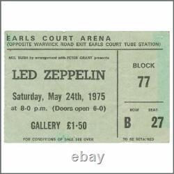 Led Zeppelin 1975 Earls Court Concert Ticket Stub (UK)