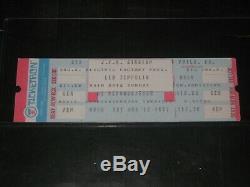 Led Zeppelin 1977 Original Concert Ticket Stubjfk Stadium Philadelphia