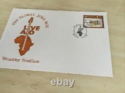 Live Aid Concert Ticket Stub Wembley 13th July 1985 & Live Aid First Day Cover