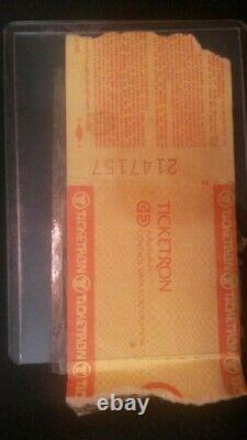 Live Aid Original ticket stub JFK Concert 1985. Americana MTV Music 80's