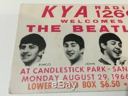 Lot Of 2 BEATLES LAST CONCERT Ticket Stub 1966 Candlestick Park RARE Orange Box